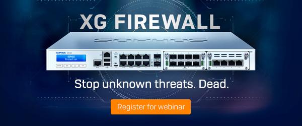 XG Firewall - Stop unknown threats. Dead.