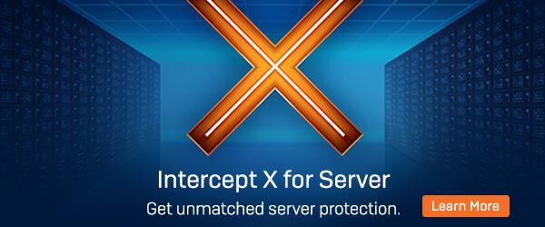 Intercept X for Server Learn More